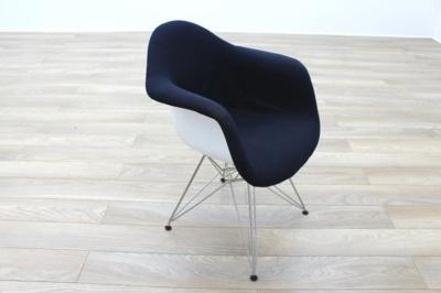 Vitra Eames DAR Blue Fabric / White Office Reception Tub Chairs