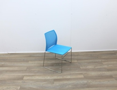 Blue Stacking Canteen Chairs