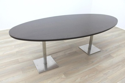 Walnut Oval Shape Office Meeting Table