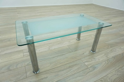 Rectangular Frosted Glass Office Reception Coffee Table