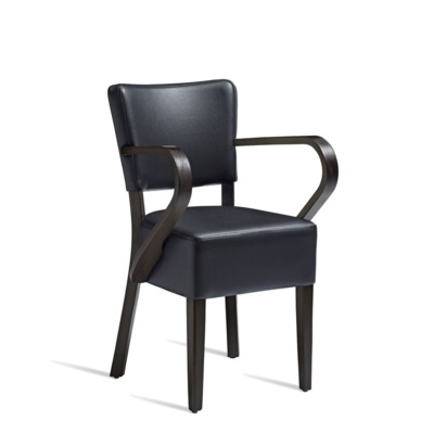 New CLUB Wenge Black high quality faux leather Luxurious Arm chair