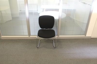 Black Fabric Meeting Chairs