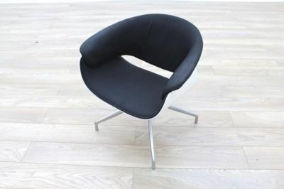 B&B Italia Sina Black Fabric White Back Office Reception Chair
