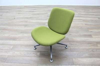 Orangebox Track Green Fabric Office Reception Tub Chairs
