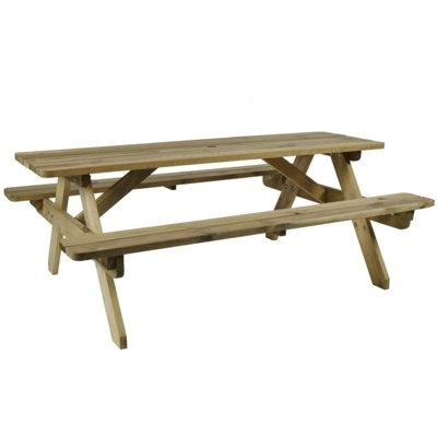 New HEREFORD Timber 6 Seater Picnic Bench