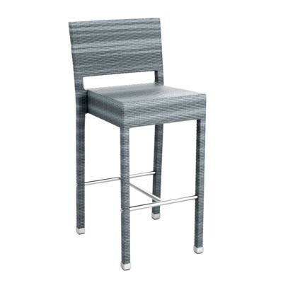 New Grey Wicker Solana Weave Rattan Style Office Garden Canteen Cafe Bistro Bar Stools