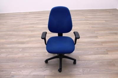 Blue Fabric Multifunction Office Task Chairs