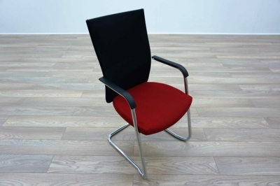 Connection Flex Red / Black Mesh Office Meeting Chairs