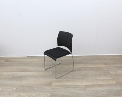 PLastic Back And Fabric Seat Canteen Chairs