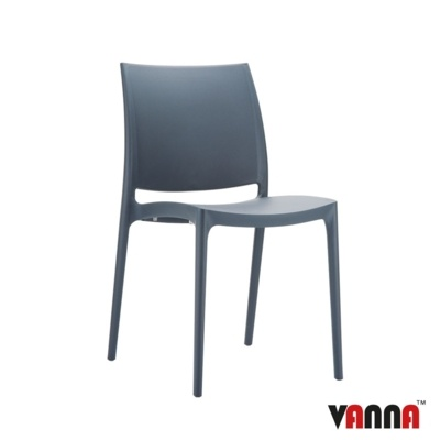 New Grey Moulded Plastic Stacking Office Canteen Cafe Bistro Meeting Chairs