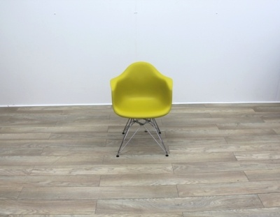 Vitra DAR Plastic Armchair in Mustard Yellow