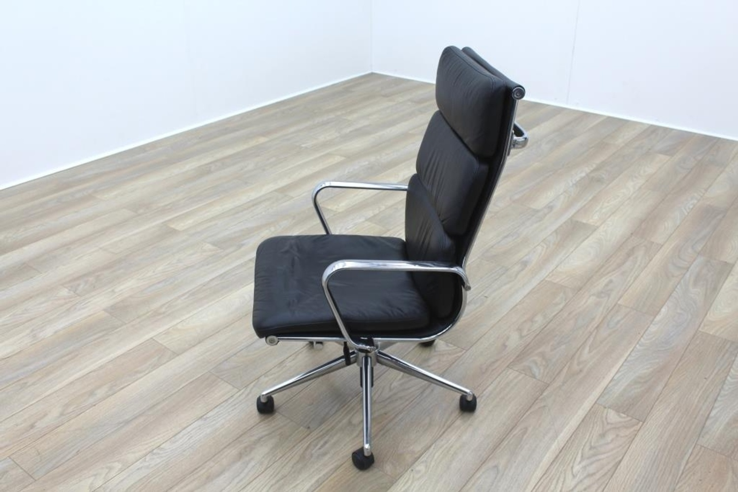 charles eames soft pad style high back black leather task chair ebay