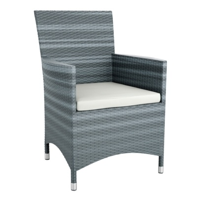 New Grey Wicker Solana Weave Rattan Style Office Garden Canteen Cafe Bistro Comfort Chairs