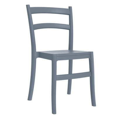 New Grey Polypropylene & Glass Fibre Office Canteen Bistro Cafe Side Chairs