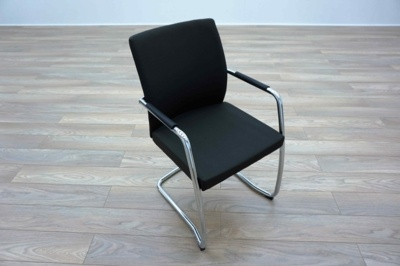 Ocee Design Grey Fabric Cantilever Office Meeting Chairs