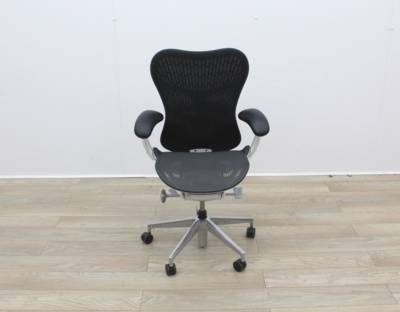Herman Miller Mirra 2 Operators Chairs - White Frame And Polished Base