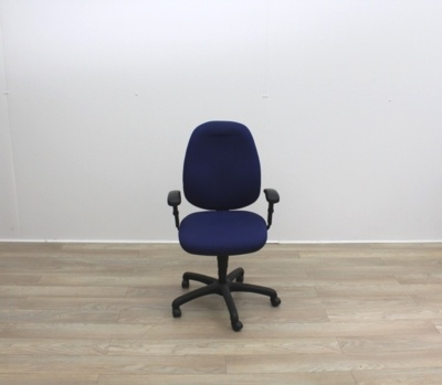 Blue Fabric Multifunction Office Task Chair