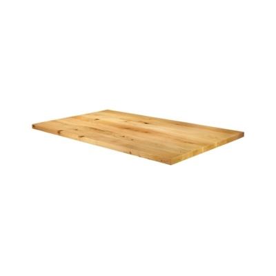 New Natural Laquered Character Superior Grade Oak 1200mm x 750mm Rectangular Table Top