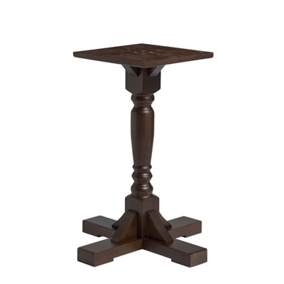 New PORT Dark Walnut Solid Beech Small Table Base