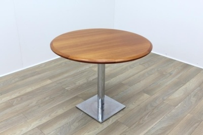 Cherry Veneer Solid Wood Round Table 1000mm