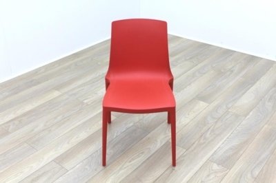 Brunner Red Polymer Canteen Chair
