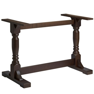 New PORT Dark Walnut Solid Beech Rectangular Table Base