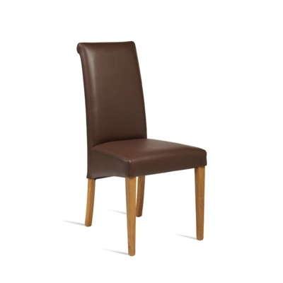 New LYNX Brown Luxurious Upolstered High Quality Faux Leather Side Chair