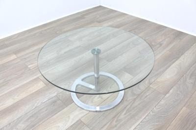 Boss Design Rota Circular Glass Office Coffee Table
