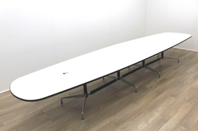 Original Vitra Charles Eames White Office Meeting Table