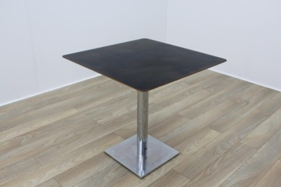 Black Square Coffee Table Chery Edge 750mm