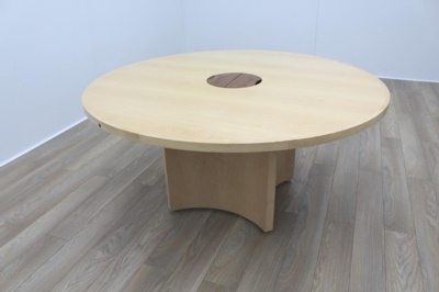 Sven Christiansen Maple Veneer Executive 1600mm Circular Office Meeting Table