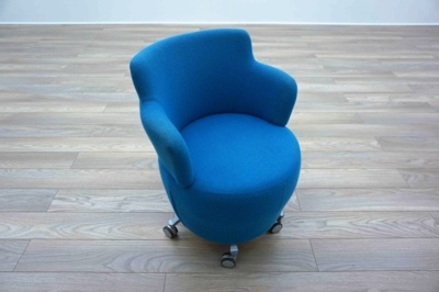 OrangeBox Dean / Tarn Blue Office Reception / Tub Style Chairs