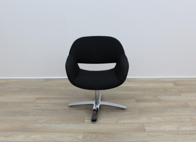 Black Fabric Kusch Co Volpe Meeting Chairs