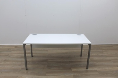 White 1600mm Straight Office Desks