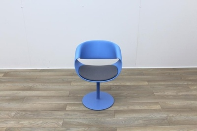 Swivel Blue Reception Chairs