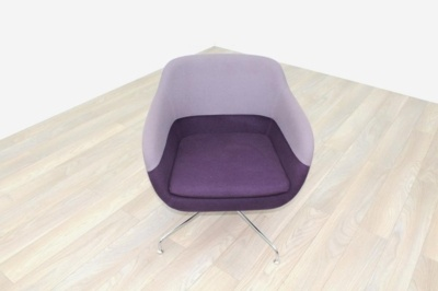Brunner Light/Dark Purple Fabric Reception Tub Chair