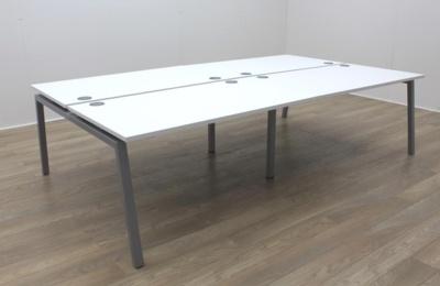 New Mobili Soho 3 White Commercial Grade Office Bench Desking