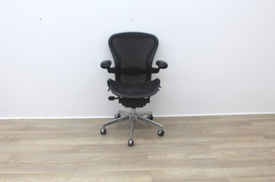 Herman Miller Aeron Size B Office Task Chair With Chrome Base