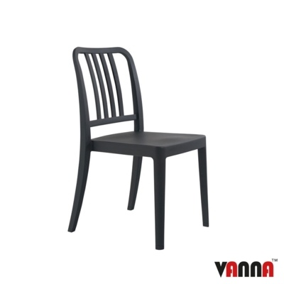 New Anthracite Reinforced Polypropylene Stacking Office Canteen Cafe Bistro Meeting Chairs