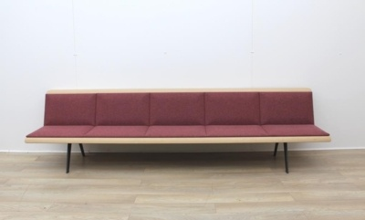 ARPER Five Person Bench Whit Oak Finish