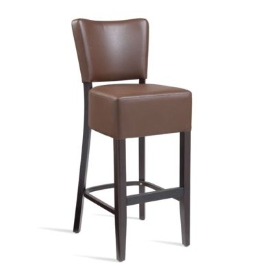 New CLUB Wenge Brown high quality faux leather Luxurious Bar Stool