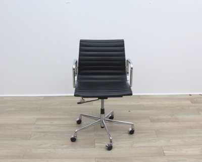 Black Leather Eames Style Chair EA108