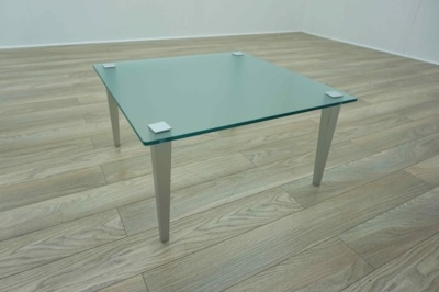 Square Frosted Glass Office Coffee Table