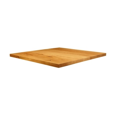 New Natural Laquered Character Superior Grade Oak 900mm x 900mm Square Table Top