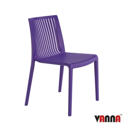 New Purple Reinforced Polypropylene Stacking Office Canteen Bistro Cafe Chairs