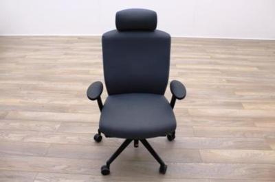 Senator Enigma Grey Fabric Office Task Chairs w/ Headrest