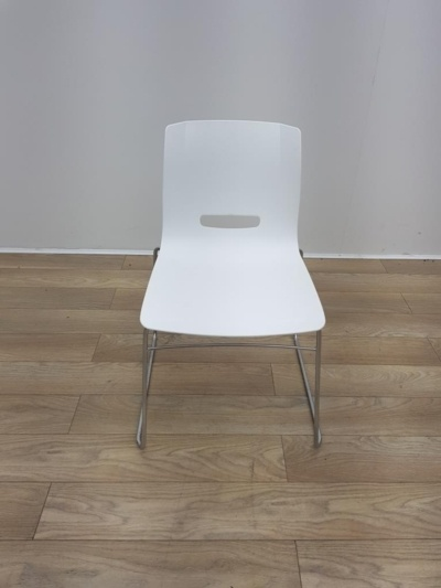 Allemuir White Stacking Chairs