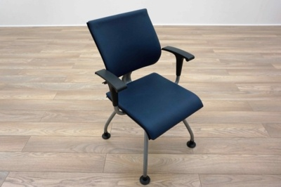 Ahrend Blue Leather Office Meeting Chairs