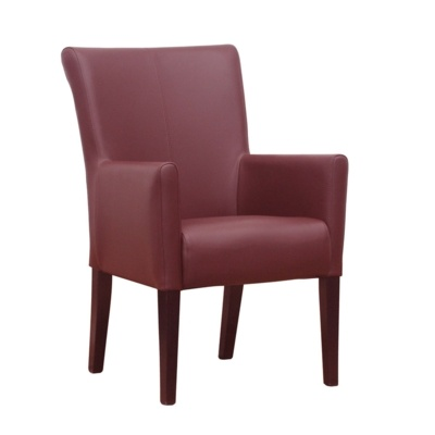New YORK Red High Quality Faux Leather Arm Chair