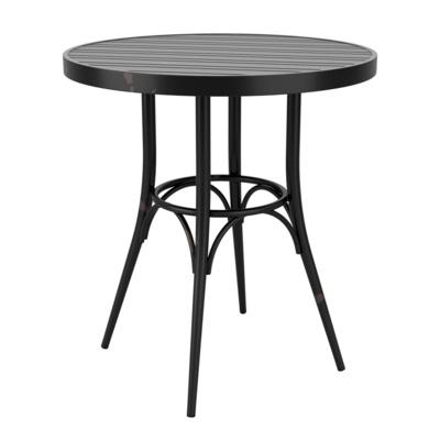 New Cafe Black Aluminium Vintage Finish Canteen Café Round Table